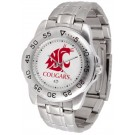 Washington State Cougars Sport Steel Band Men's Watch