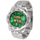 Wright State Raiders Sport Steel Band Ano-Chrome Men's Watch