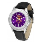 Weber State Wildcats Competitor AnoChrome Men's Watch with Nylon/Leather Band