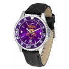 Weber State Wildcats Competitor AnoChrome Men's Watch with Nylon/Leather Band and Colored Bezel
