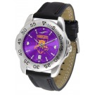 Weber State Wildcats Sport AnoChrome Men's Watch with Leather Band