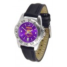 Weber State Wildcats Sport AnoChrome Ladies Watch with Leather Band
