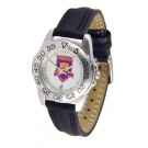 Weber State Wildcats Ladies Sport Watch with Leather Band