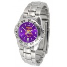 Weber State Wildcats Sport AnoChrome Ladies Watch with Steel Band