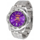 Weber State Wildcats Sport Steel Band Ano-Chrome Men's Watch