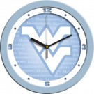 "West Virginia Mountaineers 12"" Blue Wall Clock"
