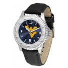 West Virginia Mountaineers Competitor AnoChrome Men's Watch with Nylon/Leather Band