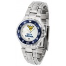 West Virginia Mountaineers Competitor Ladies Watch with Steel Band