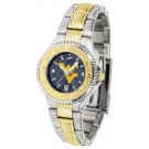 West Virginia Mountaineers Competitor AnoChrome Ladies Watch with Two-Tone Band