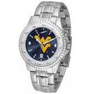 West Virginia Mountaineers Competitor AnoChrome Men's Watch with Steel Band