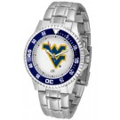 West Virginia Mountaineers Competitor Watch with a Metal Band