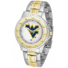 West Virginia Mountaineers Competitor Two Tone Watch