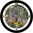 "West Virginia Mountaineers 12"" Camo Wall Clock"