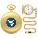 West Virginia Mountaineers Gold Pocket Watch