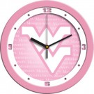 "West Virginia Mountaineers 12"" Pink Wall Clock"