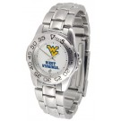 West Virginia Mountaineers Gameday Sport Ladies' Watch with a Metal Band
