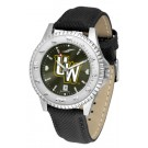 Wyoming Cowboys Competitor AnoChrome Men's Watch with Nylon/Leather Band