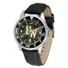 Wyoming Cowboys Competitor AnoChrome Men's Watch with Nylon/Leather Band and Colored Bezel