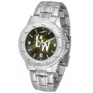 Wyoming Cowboys Competitor AnoChrome Men's Watch with Steel Band