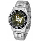 Wyoming Cowboys Competitor AnoChrome Men's Watch with Steel Band and Colored Bezel