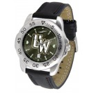 Wyoming Cowboys Sport AnoChrome Men's Watch with Leather Band
