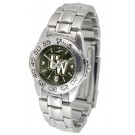 Wyoming Cowboys Sport AnoChrome Ladies Watch with Steel Band