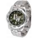 Wyoming Cowboys Sport Steel Band Ano-Chrome Men's Watch