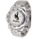 Wyoming Cowboys Sport Steel Band Men's Watch