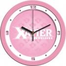 """Xavier Musketeers 12"""" Pink Wall Clock"""