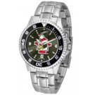Youngstown State Penguins Competitor AnoChrome Men's Watch with Steel Band and Colored Bezel