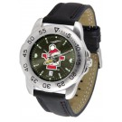 Youngstown State Penguins Sport AnoChrome Men's Watch with Leather Band