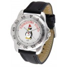 Youngstown State Penguins Men's Sport Watch with Leather Band