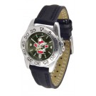 Youngstown State Penguins Sport AnoChrome Ladies Watch with Leather Band
