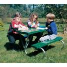 Galvanized Pre-School Picnic Table with Polyethylene Planks