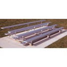 15' Aluminum 4 Row Low Rise Bleachers with Double Footboards