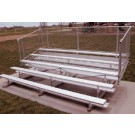 27' Portable Stadium Aluminum 10 Row Bleachers with Chain Link Guard Rails by