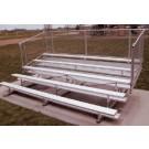 9' Portable Stadium Aluminum 4 Row Bleachers with Chain Link Guard Rails