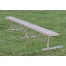 "15' Thermoplastic Portable Players Bench with 2"" x 12"" Planks, 4 Legs and without a Back by"
