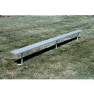 15' Deluxe Thermoplastic Inground Players Bench with 4 Legs and without a Back by