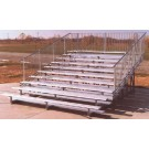 15' Portable Stadium Galvanized 10 Row Bleachers with Guard Rails