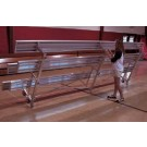 9' Tip N' Roll Galvanized Indoor/Outdoor 2 Row Bleachers