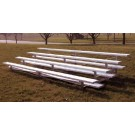 15' Portable Stadium Galvanized 2 Row Bleachers without Guard Rails and with Double Footboards