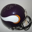Cris Carter Autographed Minnesota Vikings Riddell Full Size Authentic Helmet