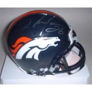 Clinton Portis Autographed Denver Broncos Riddell Mini Helmet