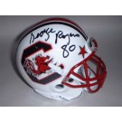"George Rogers Autographed South Carolina Gamecocks Schutt Throwback Mini Helmet with ""80"" Inscription"