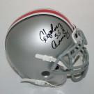"Howard ""Hopalong"" Cassady Autographed Ohio State Buckeyes Schutt Mini Helmet with ""55"" Inscription"