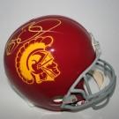 Reggie Bush Autographed USC Trojans Riddell Full Size Replica Helmet