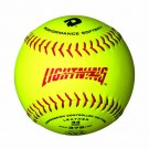 "DeMarini 12"" Lightning Yellow Leather Polycore ASA Softballs - 1 Dozen"