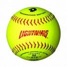 "12"" ASA Optic Yellow Leather Lightning Softballs from Wilson (1 Dozen)"