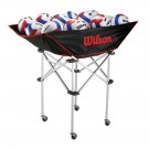Stand Up Volleyball Cart with Travel Bag from Wilson
